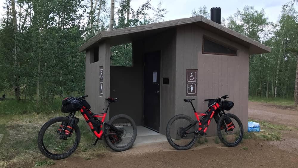 Kenosha Pass outhouse