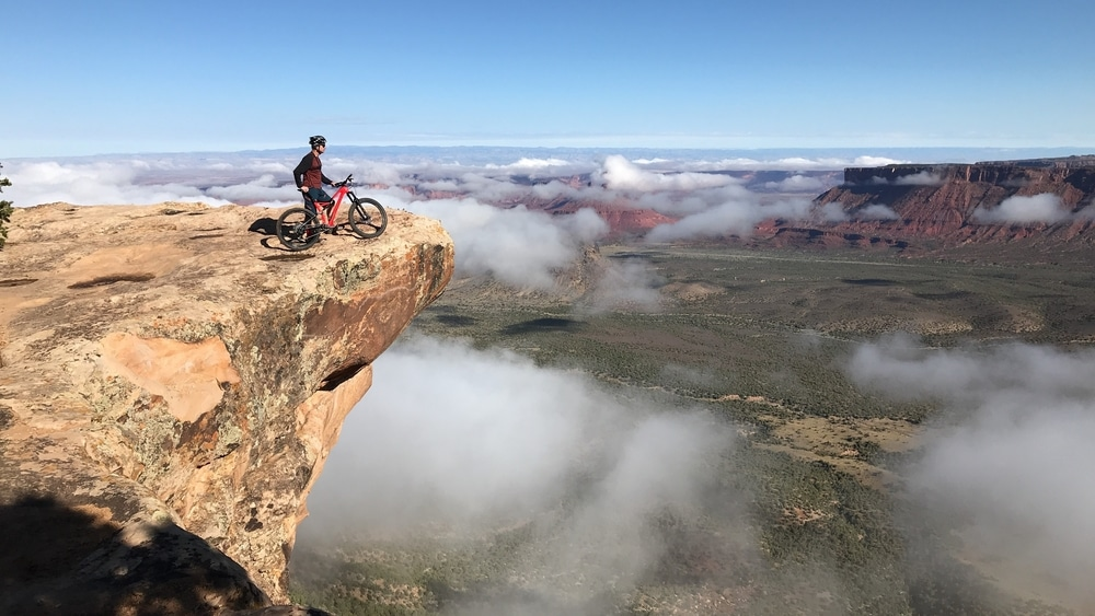 riding above the clouds
